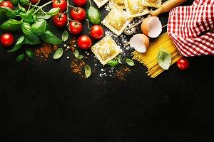 Italian healthy food background