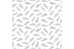 Sport footwear seamless pattern