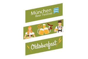 Oktoberfost banners. Oktoberfest