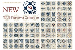 Big set of 92 TILE templates,Azulejo