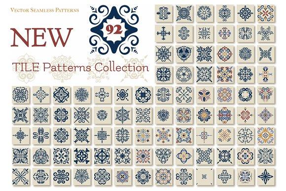 Big set of 92 TILE templates,Azulejo