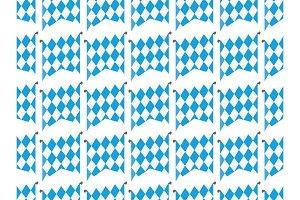 Oktoberfes flags seamless pattern