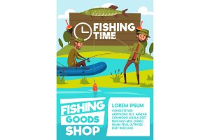 Fisher men poster for fishing shop