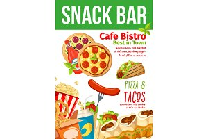 Fast food snacks bar and bistro menu