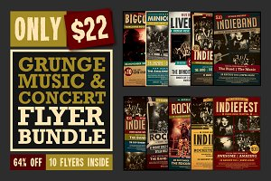Music Flyer Bundle. $15 Black Friday