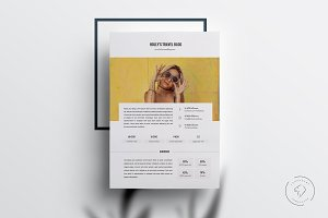 3 Page Media Kit Template for Word