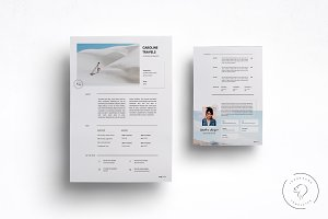 2 Page Blogger Media Kit Template