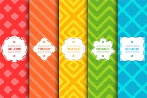 Vibrant seamless textile patterns