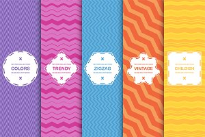 Zigzag seamless colorful patterns