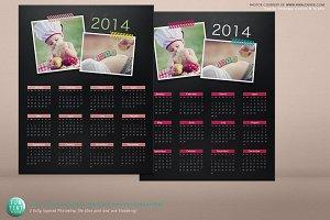 Chalkboard Calendar Psd Template