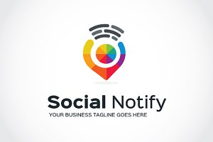 Social Notify Logo Template