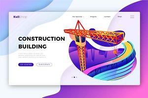 Construction Building-Banner&Landing