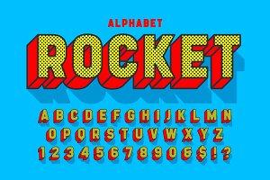 Comic 3d display font design