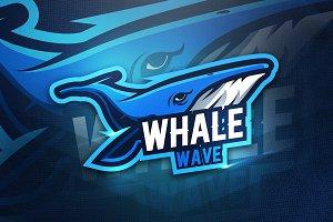 Whale Wave - Mascot & Esport Logo