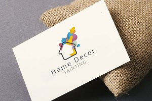 Home Decor Painting Logo