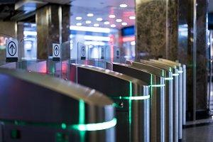 subway metro turnstile entrance gate