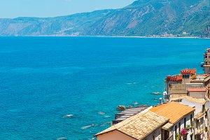 Scilla sea coast, Calabria, Italy.