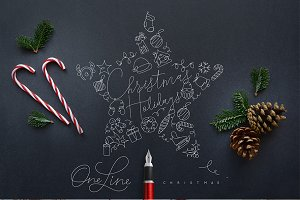 Christmas Holidays One Line