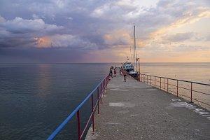 Evening sky over the Black Sea.