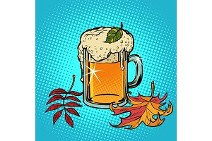 beer foamy Oktoberfest autumn