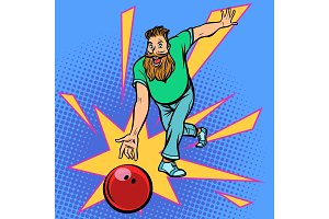 man throws bowling ball
