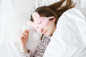Beautiful young woman sleeps