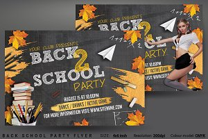 Back School Party Flyer