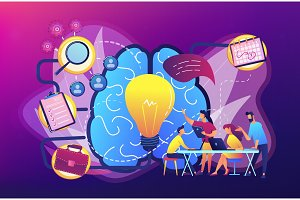 Project management concept vector