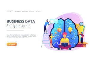 Business intelligence concept vector
