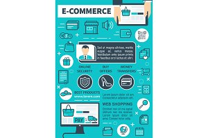 Online e-commerce and secure payment