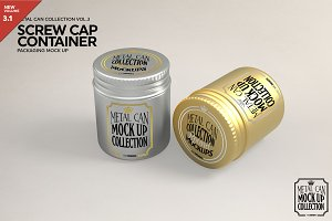 Round Screw Cap Metal Mockup