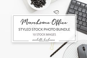 Monochrome Office Stock Photo Bundle
