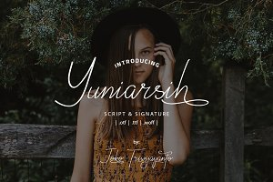 Yuniarsih // Luxury Signature Font