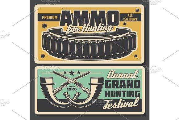 Hunter ammo bullet and horns