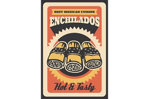 Mexican enchilados vector poster