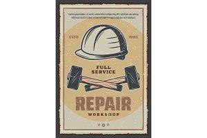 Hammer and helmet repair tools