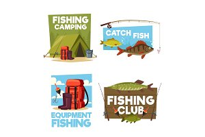 Fisher camping club adventure icons