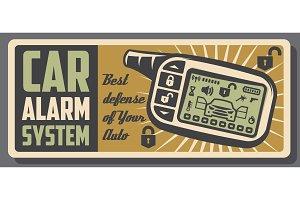 Car alarm ans auto security systems