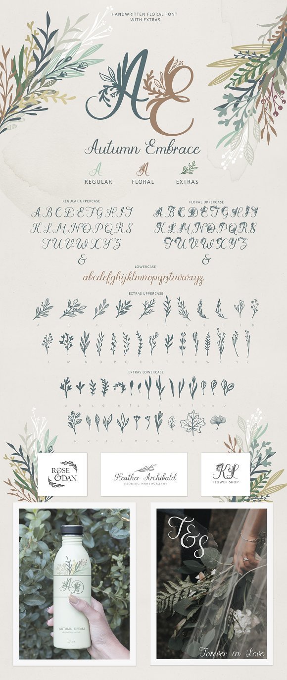 Autumn Embrace Font. Intro price $10