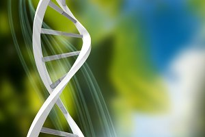 Image of image of dna helix