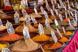 Spices at arabian market