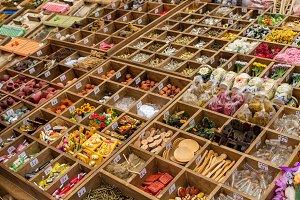 Products at arabian market