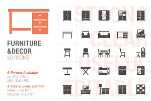 Furniture & Decor Filled Icon