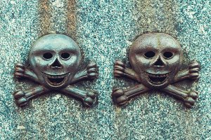 Details on an old gravestone