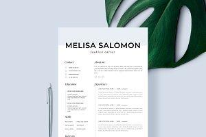 """Resume Template 1 page   """"Milan"""""""