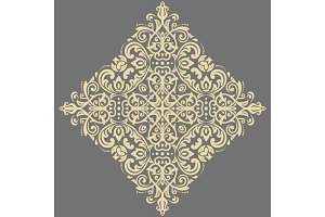 Elegant Vector Golden Ornament in