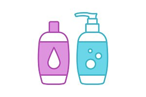 Shampoo and bath foam color icon
