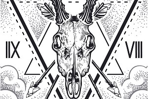 Vector Deer Skull | Art and Design