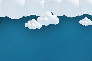 Digitally generated image of clouds