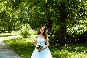 Portrait of the bride in the Park